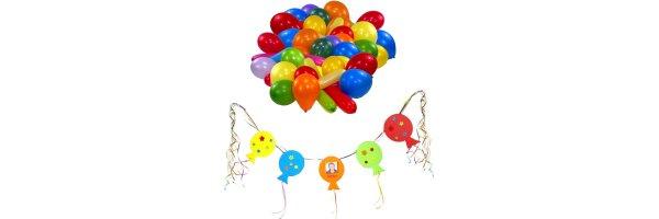 Luftballons + Girlanden