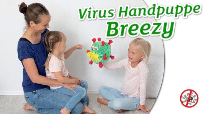Virus Handpuppe Breezy