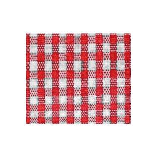 Karoband, 10 mm, 1 Rolle, rot/ weiß, 25 m