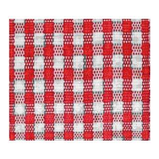 Karoband, 25 mm, 1 Rolle, rot/ weiß, 25 m