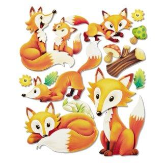"3D Sticker XXL ""Fuchs"""