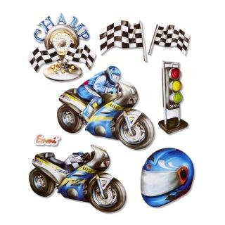 "3D Sticker XXL ""Motorrad"""