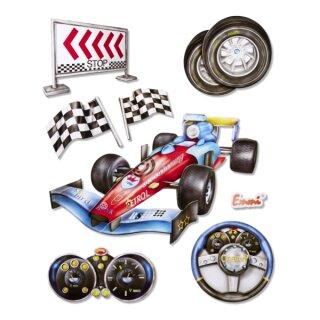 """3D Sticker XXL """"Rennwagen"""""""