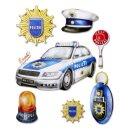 """3D Sticker XXL """"Polizei"""", leider erst Ende Mai..."""
