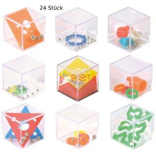 Geduldspielwürfel 24 Stück 4 x 4 x 4 cm, aus Kunststoff von Eduplay