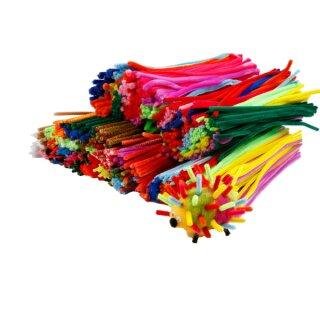 Chenilledraht Pfeifenputzer 700 Stück in versch. Farben sortiert