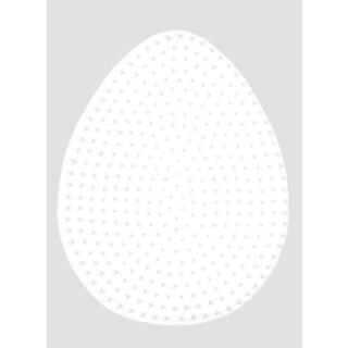 Stiftplatte Ei weiß 12,5 x 9,5 cm, für HAMA® MIDI Bügelperlen 5 mm