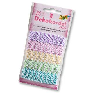 Dekokordel pastell je 5 x 4 m zweifarbige Garne