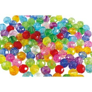 Facettenperlen Mix 8 mm, 100 g entspr. ca. 400 Stück