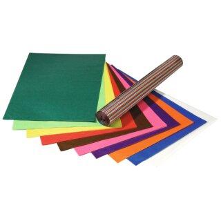 Transparentpapier, 70 x 100 cm 25 Bogen in 10 Farben sortiert