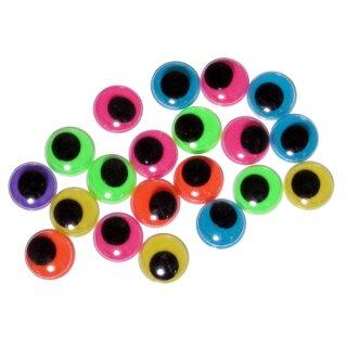 Wackelaugen zum Ankleben, 100 Stück, D: 12 mm