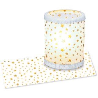 Laternenzuschnitt Transparentpapier: Sternchen 25 Blatt 20 x 50 cm