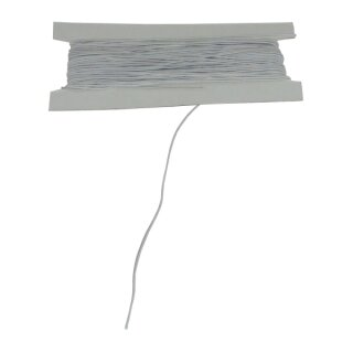 Gummikordel weiß 25 m, D: 1 mm
