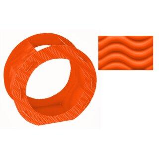 Rundlaternen Zuschnitt aus 3D-Colorwellpappe orange