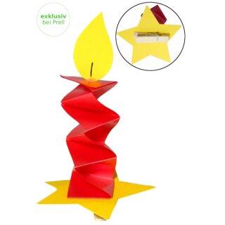 Bastelset Kerze mit Klammer 25 Stück