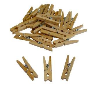 Mini Wäscheklammern, aus Holz, 100 Stück, 3 cm lang, natur