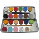 Eulenspiegel 24er Set Schmink-Metallpalette