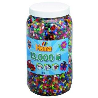 HAMA® MIDI Bügelperlen 5 mm bunt gemischt, ca. 13000 Stück