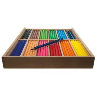 edu3 Jumbo 144 dreiflächige Farbstifte in 12 Farben sortiert