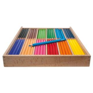 edu3 Jumbo 144 hexagonal Farbstifte in 12 Farben sortiert