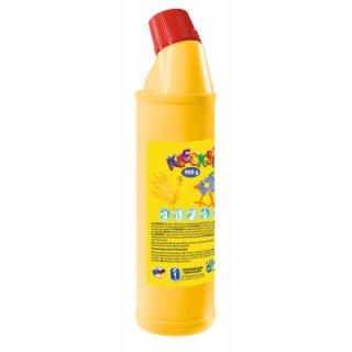 KLECKSi Fingermalfarbe Big Bottle gelb, 900g von Feuchtmann