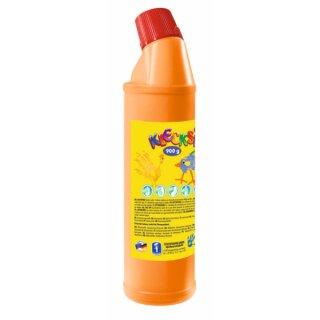KLECKSi Fingermalfarbe Big Bottle orange, 900g von Feuchtmann