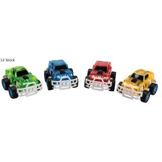 Rally Car mit Rückzugsmotor, versch. farbig sortiert, 12 Stück