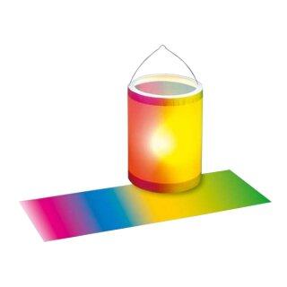 Laternenzuschnitt Transparentpapier: Regenbogen 25 Blatt, 20 x 50 cm