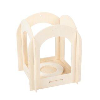 Holzlaterne, 120 x 120 x 140 mm, 1 Stück