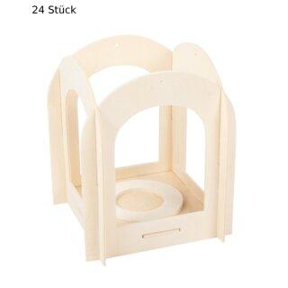 Holzlaterne, 120 x 120 x 140 mm, 24 Stück