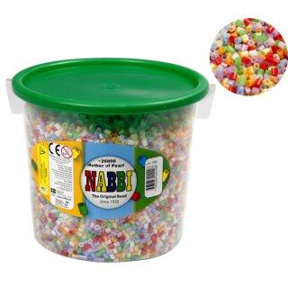 Nabbi® Bügelperlen Perlmutt im Eimer mit ca. 20000 Stück 5 mm