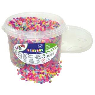 Nabbi® Bügelperlen Glitter im Eimer mit ca. 20000 Stück 5 mm