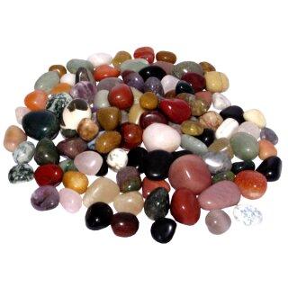 Edelsteine ohne Bohrung, 15-30 mm, 1000g, farbig sortiert