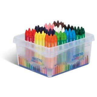 Giotto Cera Maxi Wachsmalstifte, 96 Stifte in 12 Farben sortiert in der Box