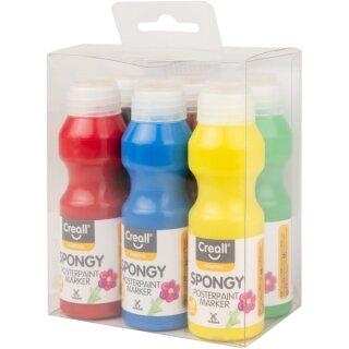 Creall® Plakatfarbe 6er Set je 70 ml in gelb, rot, blau, grün, braun, schwarz