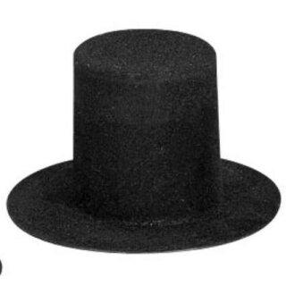 Velour Zylinder, h: 40 mm, Innend.20 mm, schwarz, 2 Stück