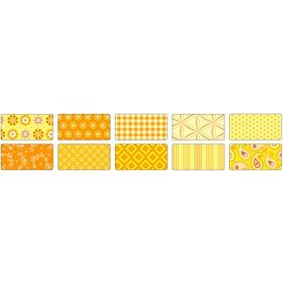 Motivkarton BASICS gelb 50 x 70 cm, 10 Bogen