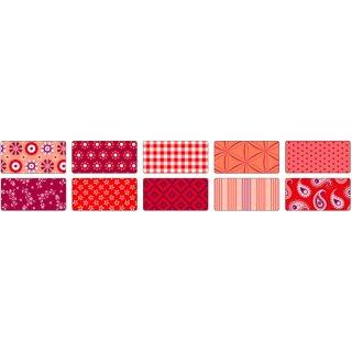 Motivkarton BASICS rot 50 x 70 cm, 10 Bogen