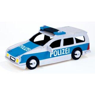Holzbausatz Polizeiauto, 26 Teile