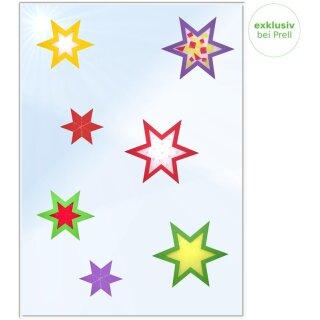 Bastelset Fensterbild Sterne, 72teilig
