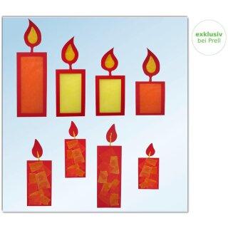 Bastelset Fensterbild Kerze, 16teilig