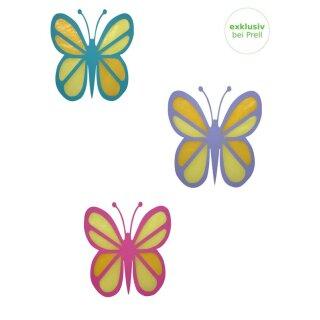 Bastelset Fensterbild Schmetterling vorgestanzt, 18teilig