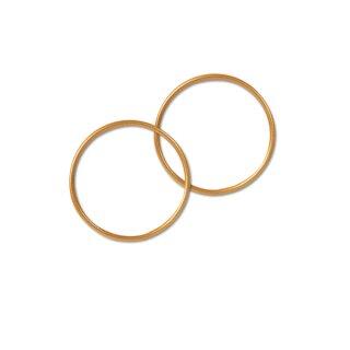 Drahtring D: 6,5 cm, gold, 5 Stück