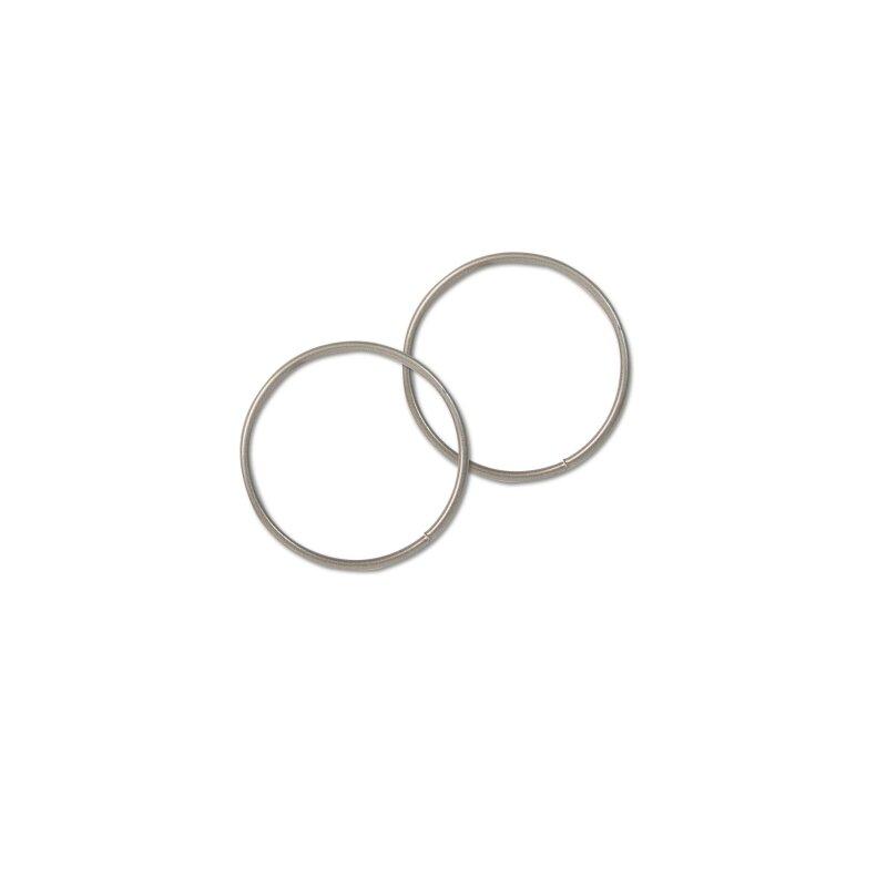 Drahtring D: 6,5 cm, silber, 5 Stück, 1,80 €