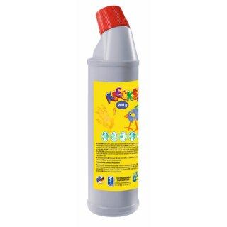 KLECKSi Fingermalfarbe Big Bottle hellgrau, 900g von Feuchtmann