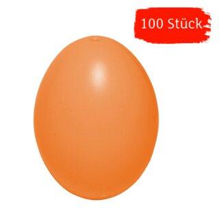 Plastik-Eier, Kunststoffeier, Ostereier, apricot 60 mm, 100 Stück