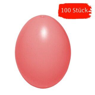 Plastik-Eier, Kunststoffeier, Ostereier, rosa 60 mm, 100 Stück