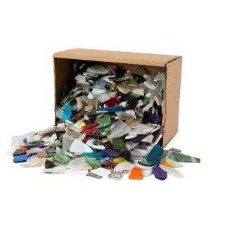 Mosaik Mischpackung in versch. Farben und Formen, 8 - 20 mm, ca. 2 kg