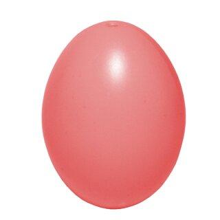 Plastik-Eier, Kunststoffei, Osterei, rosa 60 mm, 1 Stück