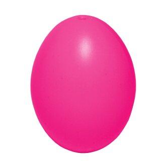 Plastik-Eier, Kunststoffei, Osterei, pink 60 mm, 1 Stück
